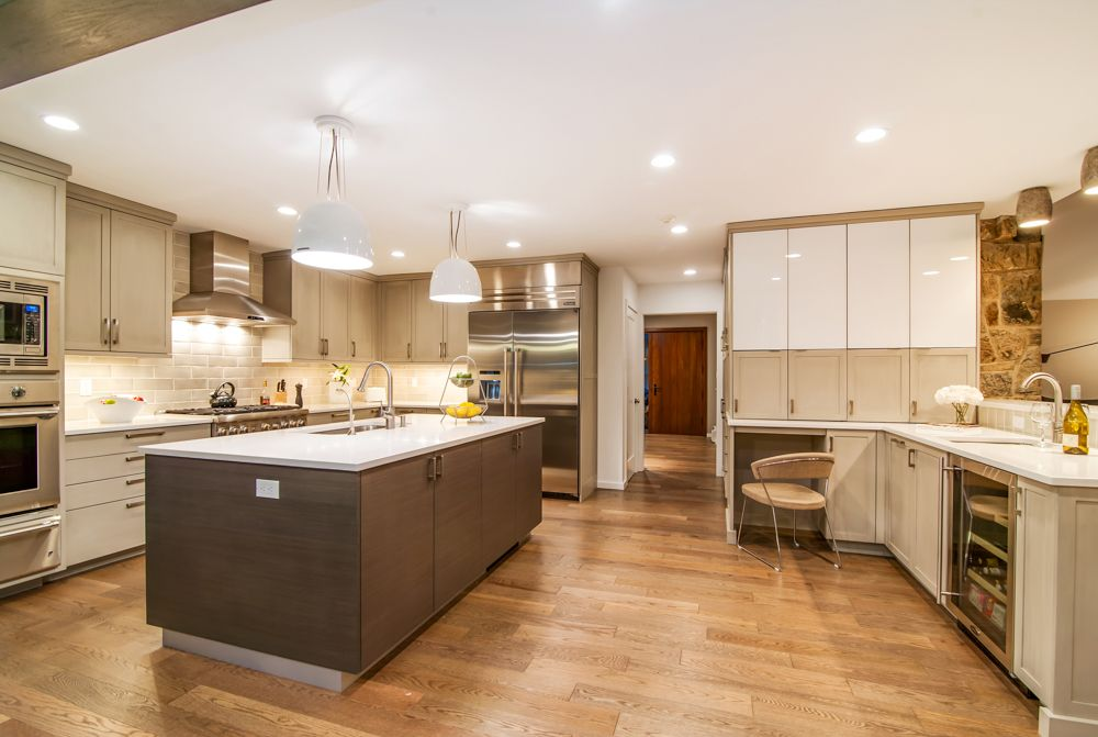 Contemporary Kitchen With Hardwood Floors By Sunrise Building