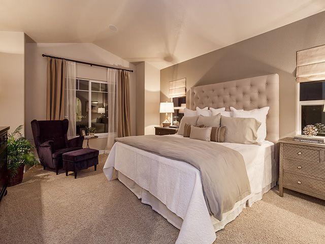 Contemporary Master Bedroom With World Market Caponata Purple Elliott Chair Kiran Embossed Metal