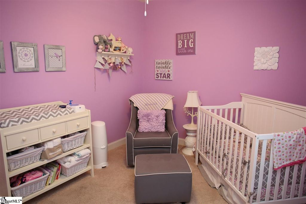 Traditional Nursery With High Ceiling Carpet In Greenville Sc