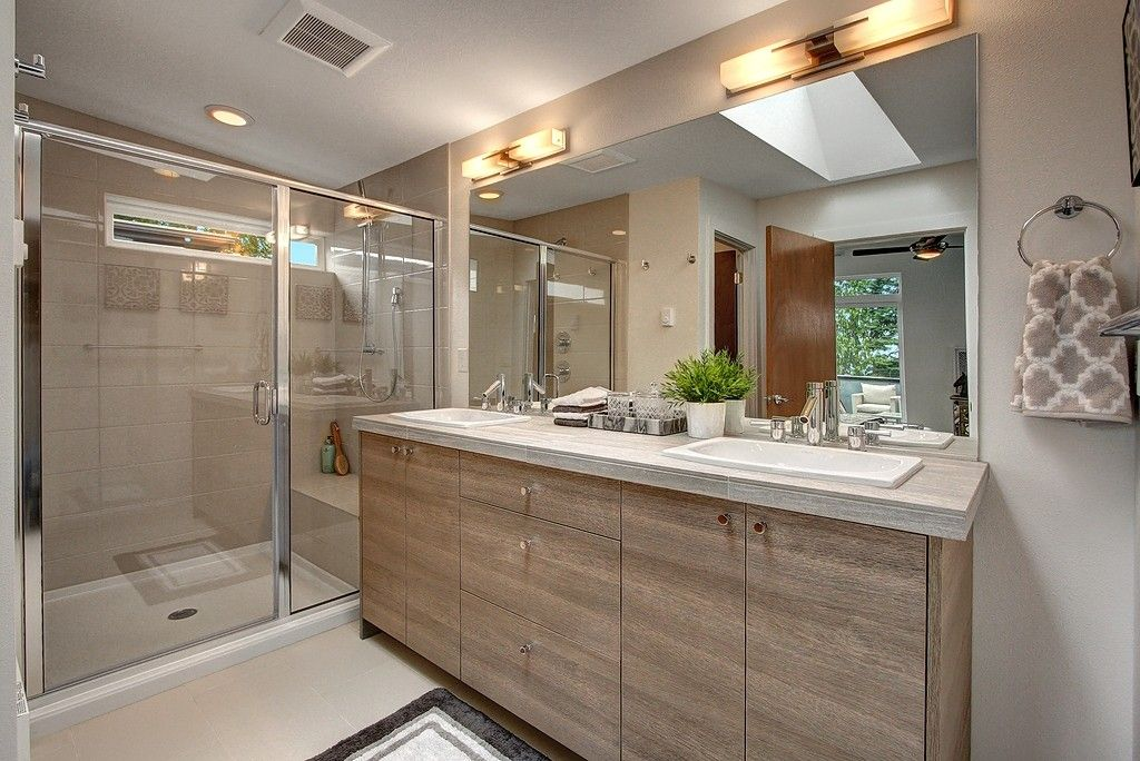 Master Bathroom Wall Sconces : Contemporary Master Bathroom with travertine tile floors & Wall sconce Zillow Digs Zillow
