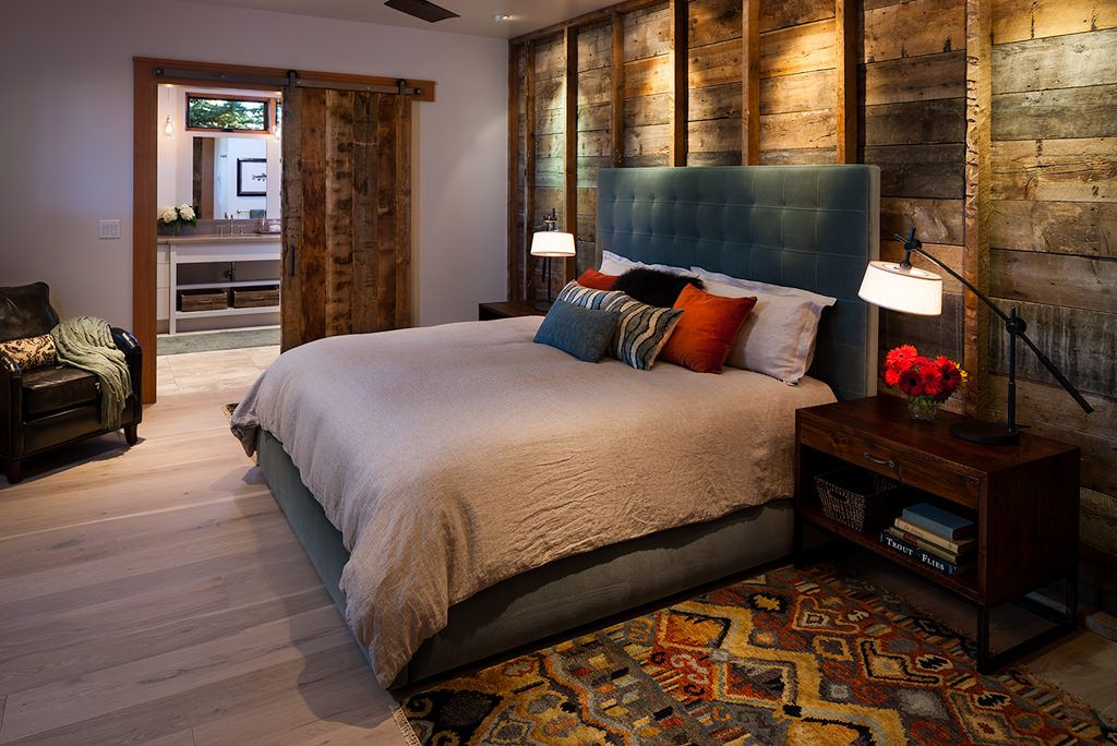 Rustic Master Bedroom With Hardwood Floors By Dovetail