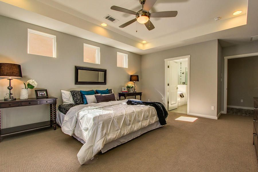Trey ceiling. 5 tags Traditional Master Bedroom with Flying Start - Color  Pathfinder 12 ft. Carpet, Ceiling fan