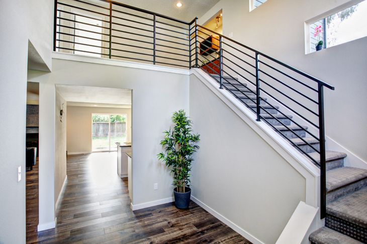 Modern Staircase with Balcony by Curt Bartkowski Zillow Digs