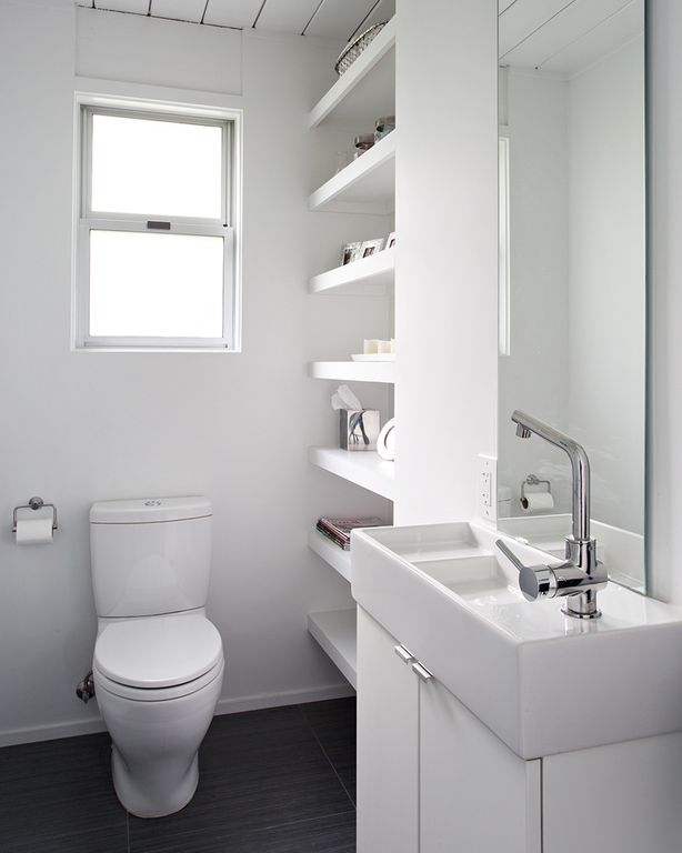 Contemporary powder room with powder room by klopf architecture zillow digs - Amenagement salle de bain 3m2 ...