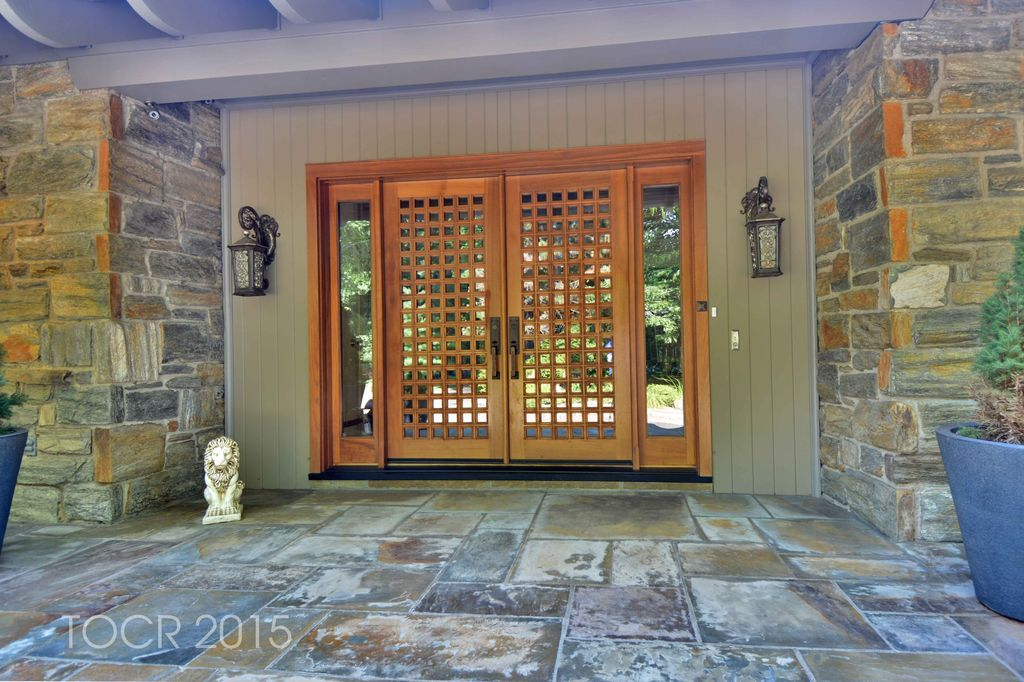 Contemporary Front Door with Jeld-Wen Custom Front Door exterior tile floors & Contemporary Front Door with exterior tile floors in Saddle River ... Pezcame.Com
