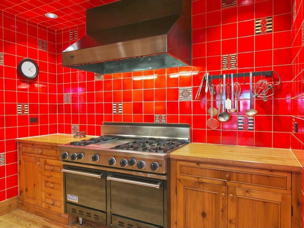 4 Tags Country Kitchen With Flush One Wall Twist Square Red Cherry 3 3