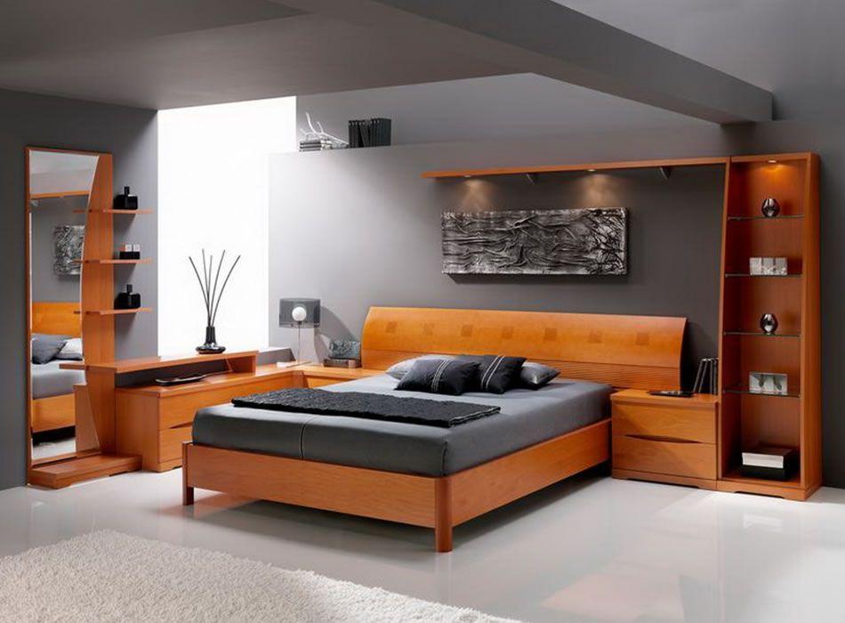 modern master bedroom with concrete floors builtin bookshelf modular home furniture bedroom