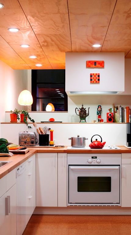 Contemporary Kitchen With Drop-In Sink & L-shaped