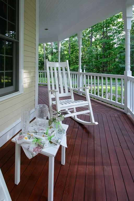 Cottage Porch With Raised Beds Wrap Around Porch In
