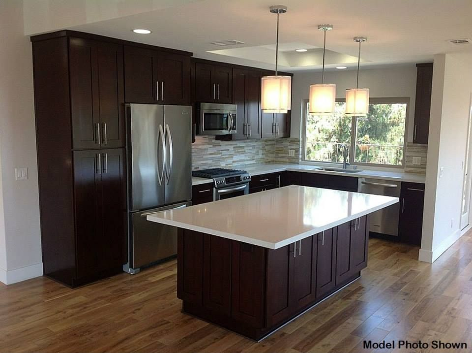 contemporary kitchen with l shaped progress lighting ashbury 1 light mini pendant hardwood - Contemporary Kitchen Floors