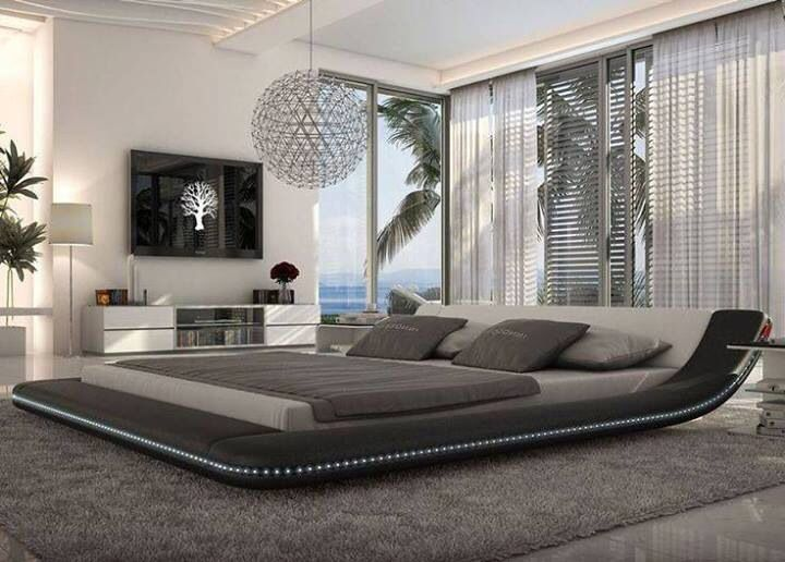 Modern Master Bedroom With Exposed Beam Armani Xavira Collection Lacquer Crocodile Texture Tv Stand