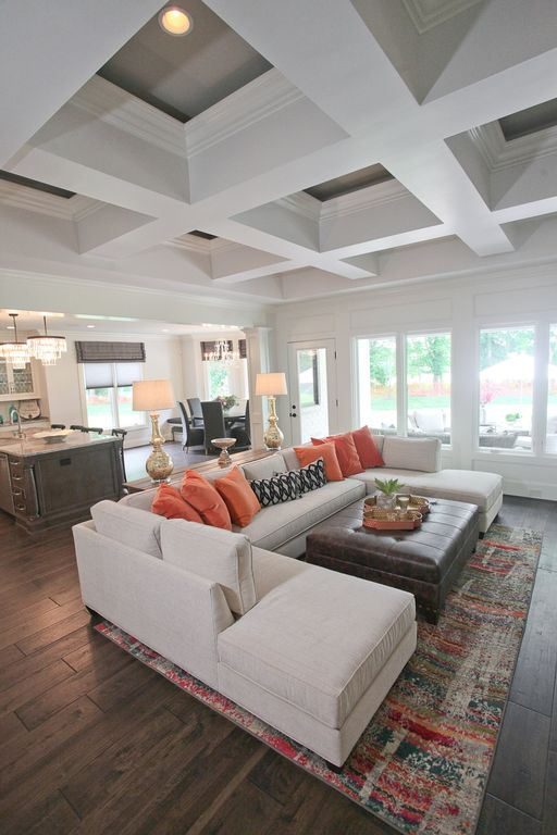 Living Room With Box Ceiling By Reflections Of You By Amy
