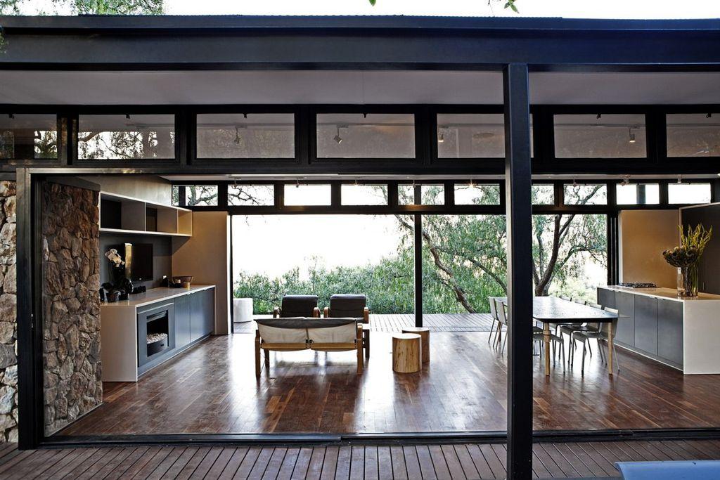 Lovely Modern Porch With Metal Fireplace U0026 Flush Light | Zillow Digs | Zillow