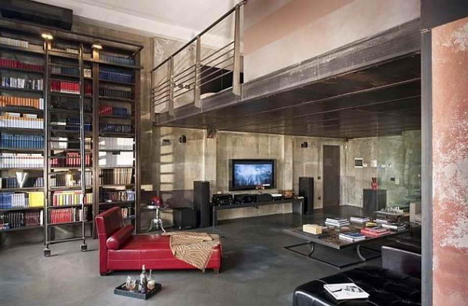 Modern Living Room Built Ins living room concrete floors design ideas & pictures   zillow digs
