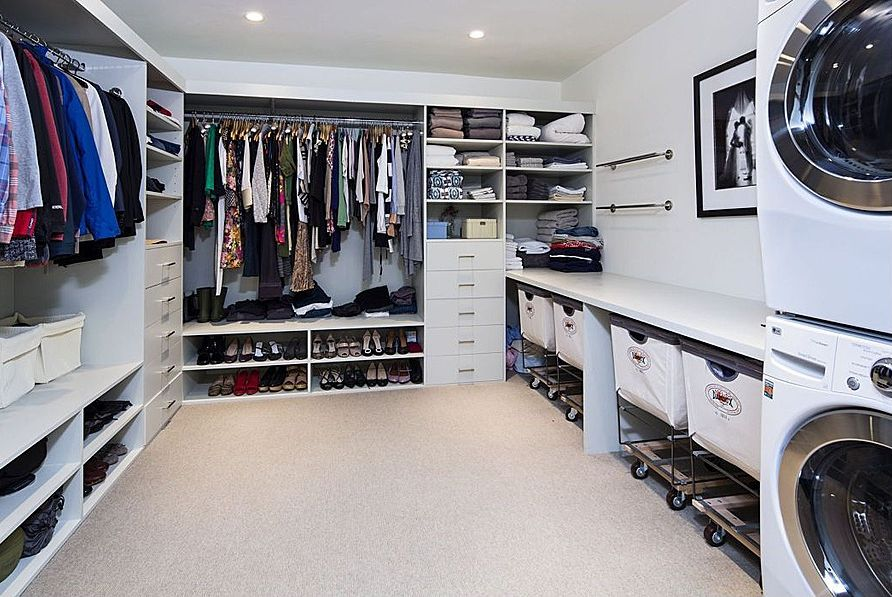 Modern Closet modern closet with laminate floors | zillow digs | zillow