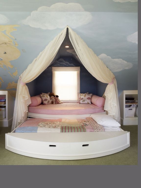 Eclectic Kids Bedroom With Mural Amp Bunk Beds Zillow Digs