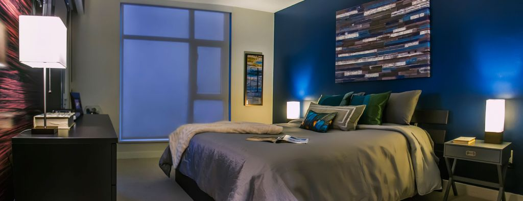 Master Bedroom Wall Art contemporary master bedroom with high ceilingmegan stone