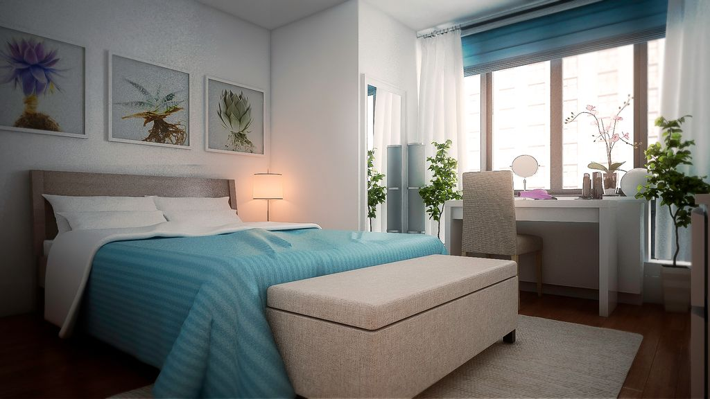Contemporary Master Bedroom with Hardwood floors by Decorilla ...