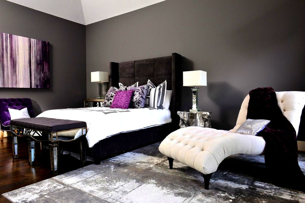 silver tufted bed eclectic black bedroom design ideas pictures zillow digs zillow