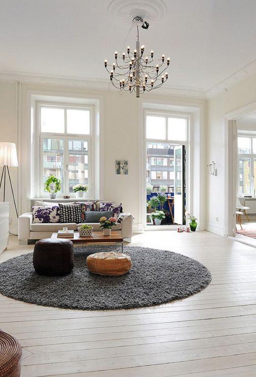 Traditional Living Room With Hardwood Floors, Glass Panel Door, White  Washed Hardwood Floor, Part 86
