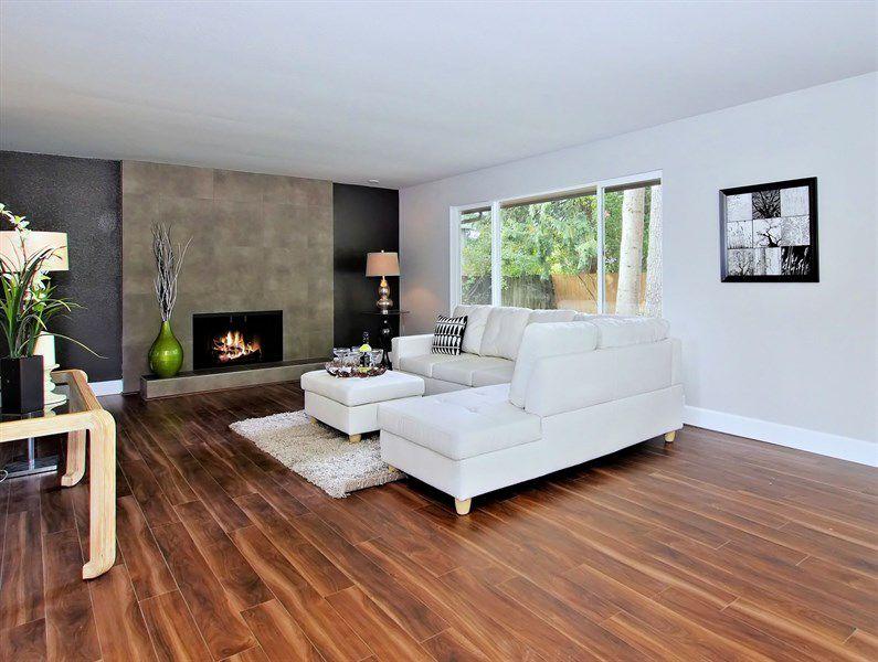 Living Room Concrete Tile Design Ideas & Pictures | Zillow Digs ...