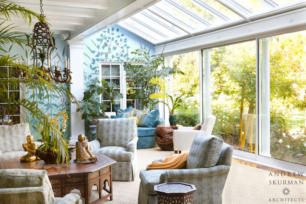 Traditional Porch With Screened Porch, Skylight