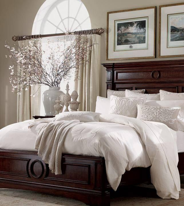 Traditional Master Bedroom with Arched window by Eileen Winfrey ...