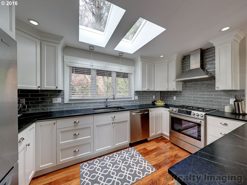 Kitchen With Skylight Hardwood Floors In Portland OR Zillow