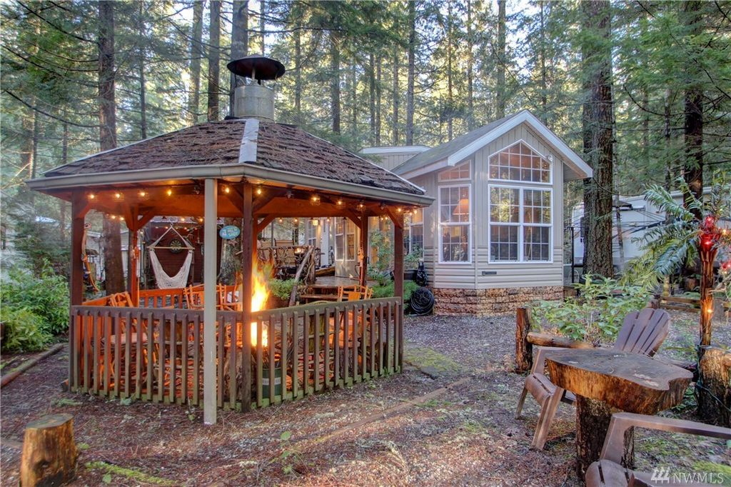 Rustic Landscape And Yard With Fire Pit amp Gazebo Zillow