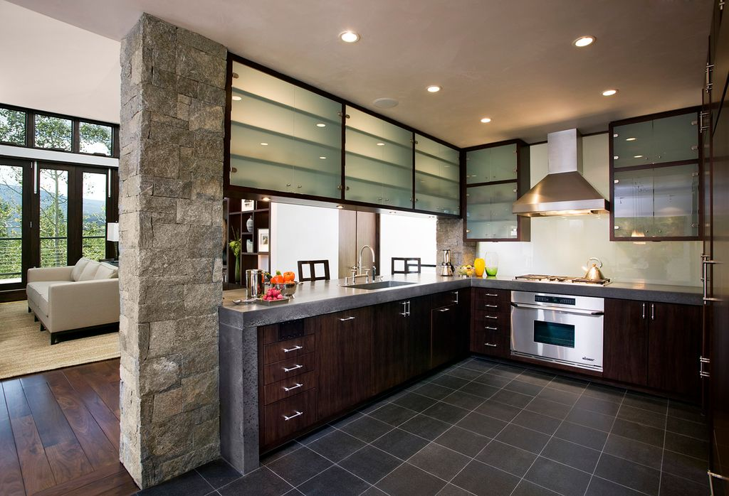 Contemporary Kitchen With Flush By MosaicArchitects