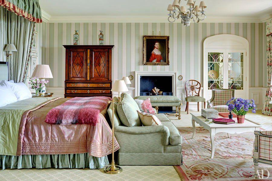 traditional master bedroom with wainscoting  builtin bookshelf, Bedroom decor