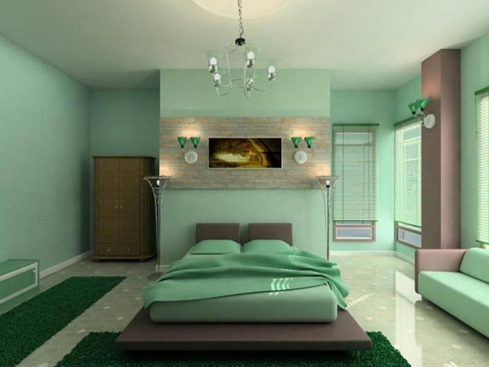 contemporary master bedroom with chandelier by tony