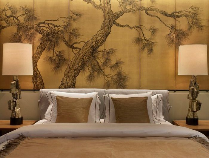 Asian Master Bedroom With Mural By Tony Leocadio Zillow