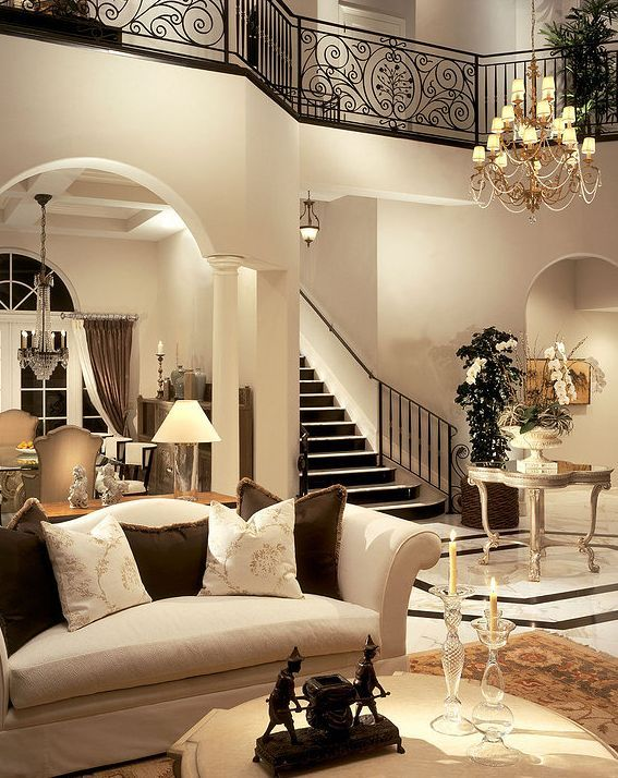 Traditional Living Room With Columns, Balcony, High Ceiling, Hardwood  Floors, West Elm Part 98