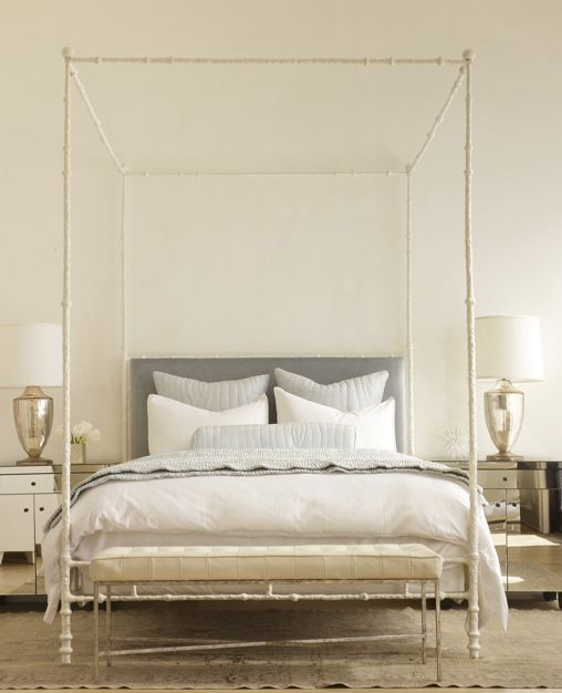 7 tags Art Deco Master Bedroom with Jamie young company plum jar mercury  glass one-light table