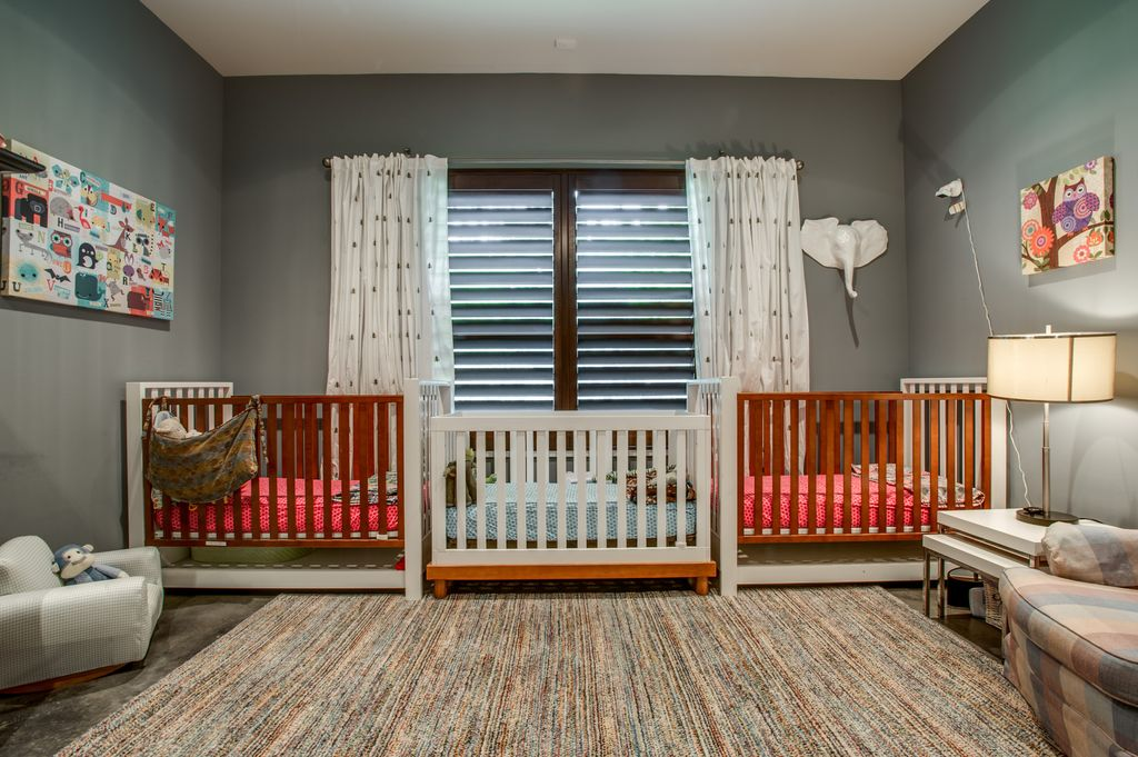 Modern nursery with carpet by classic urban homes zillow for Modern nursery images