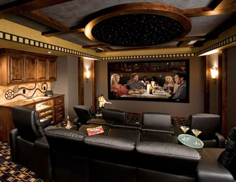 art deco home theater with box ceiling carpet zillow digs zillow. Black Bedroom Furniture Sets. Home Design Ideas