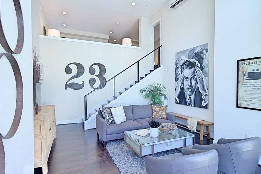 Contemporary Living Room With Stair Supplies Cable Railing Systems, Loft,  Hardwood Floors, DIY