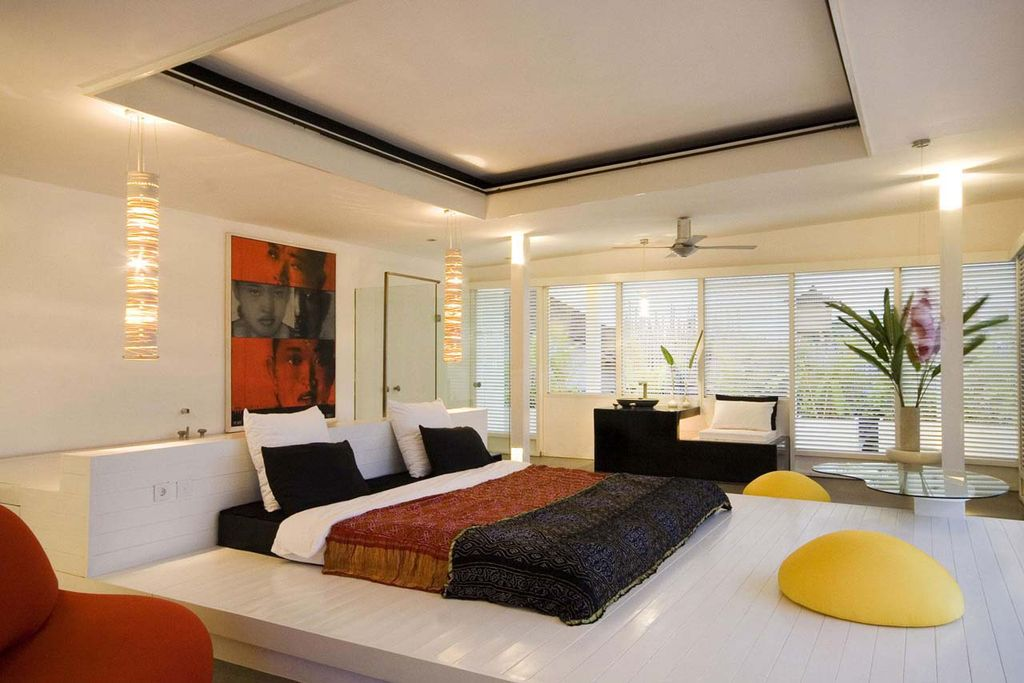 Contemporary master bedroom with columns by tony leocadio zillow digs zillow Modern chic master bedroom
