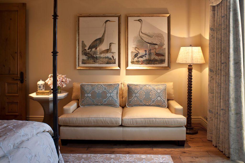asian master bedroom with hardwood floors specialty door crate and barrel ellyson sofa
