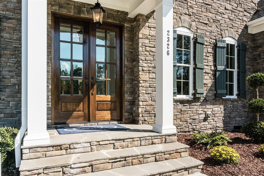 Stone Front House traditional front door design ideas & pictures | zillow digs | zillow