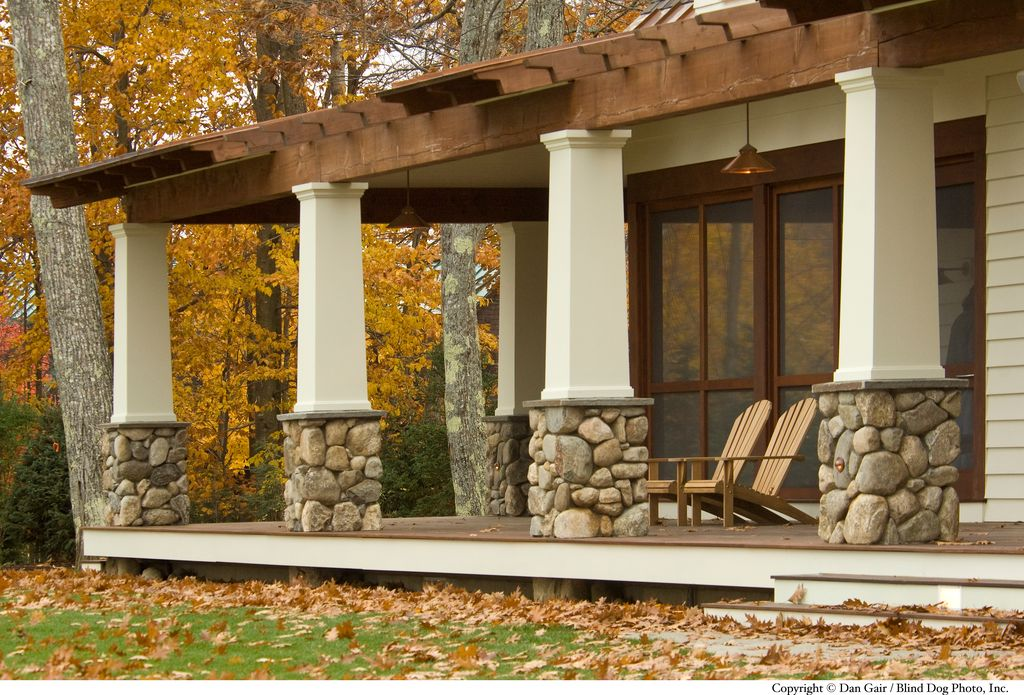 Craftsman porch with pathway by wright ryan homes zillow for Craftsman porch