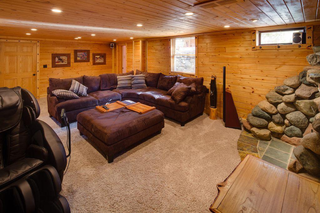 Rustic Living Room With Martha Stewart Prescott Landing II T
