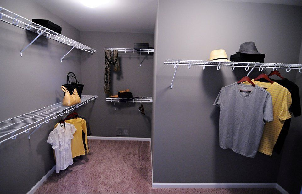 Traditional Closet With ClosetMaid   SuperSlide 6 Ft. X 12 In. Ventilated  Shelf Kit