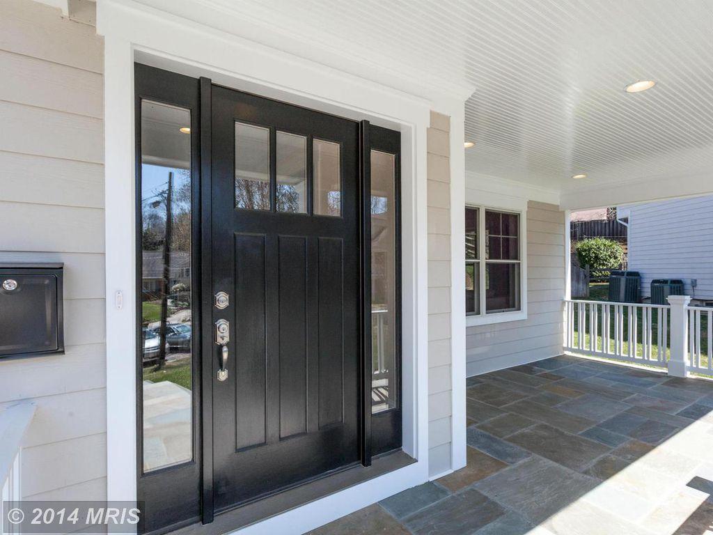 Traditional Front Door with Glass panel door & exterior stone ...