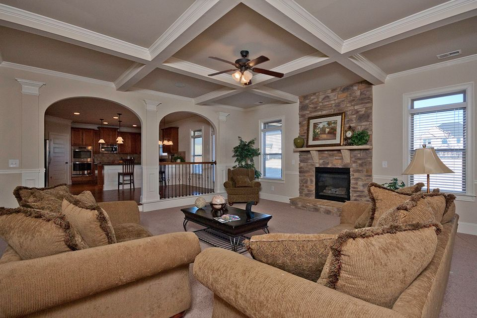 Chair Rail Molding Living Room traditional living room with chair rail & columns   zillow digs