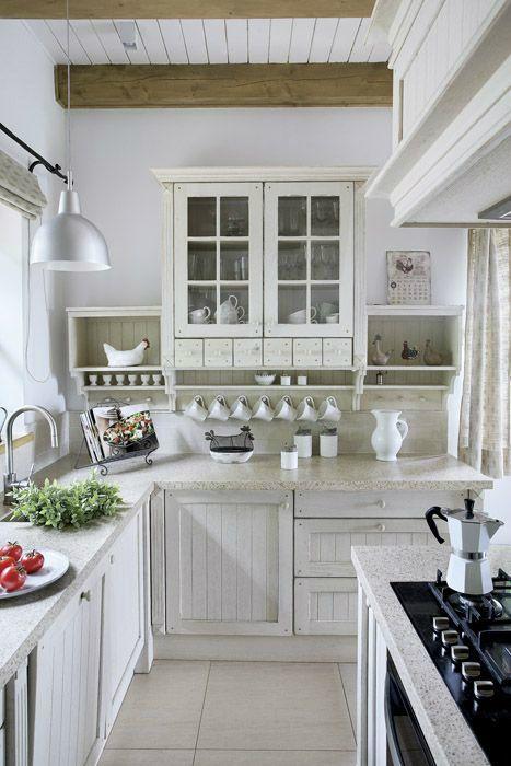 Traditional Kitchen with Flat panel cabinets by Derek   -> Kuchnia Pod Zabudowe Kwidzyn