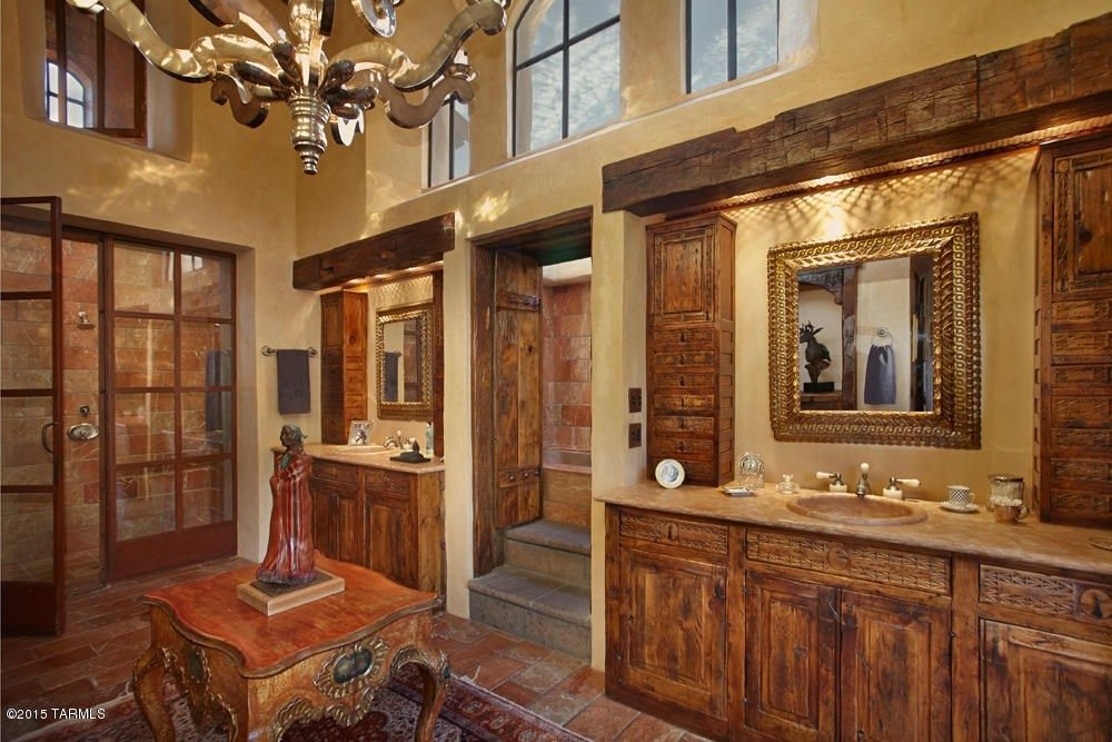 rustic master bathroom ideas rustic master bathroom with raised panel amp high ceiling in 20292