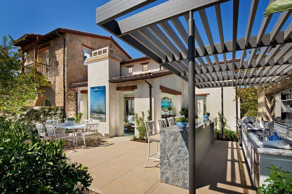 Mediterranean Patio With Trellis Amp Exterior Stone Floors