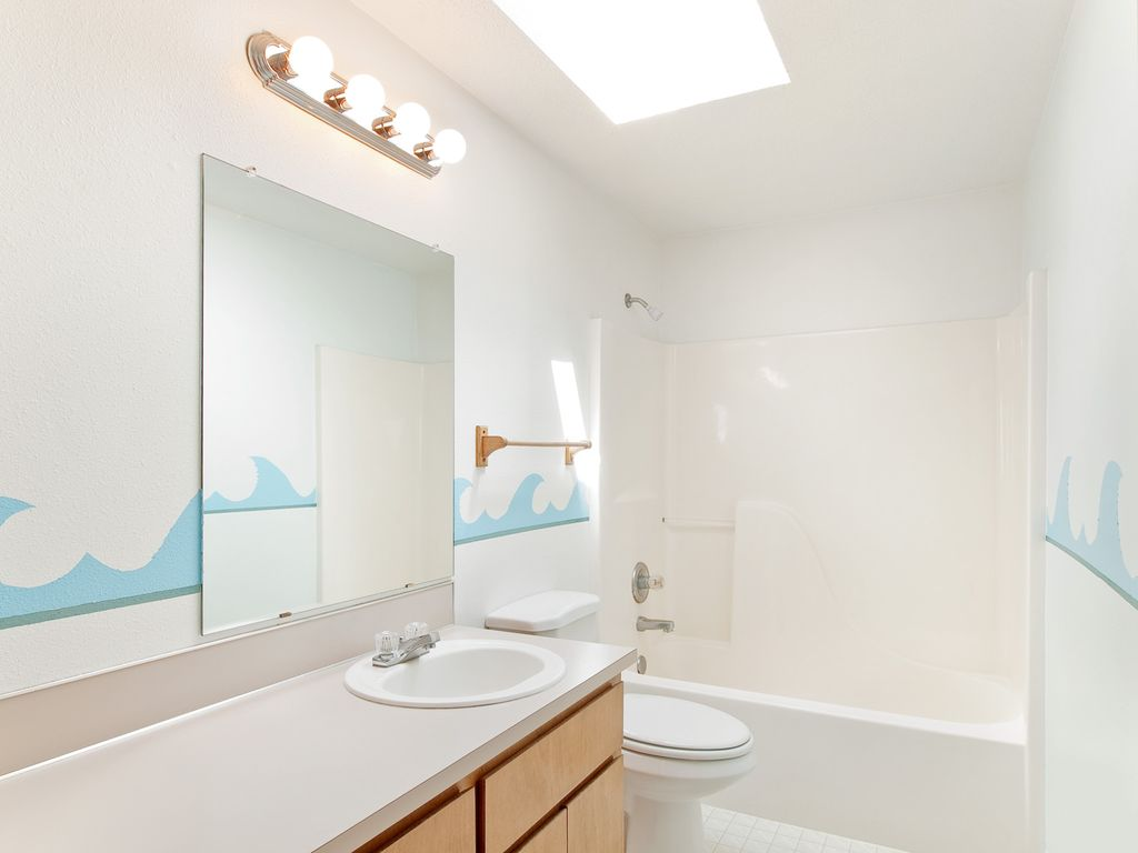 Modern Master Bathroom With Corian Counters Drop In: Modern Kids Bathroom With Drop-In Sink By Mal Seitz
